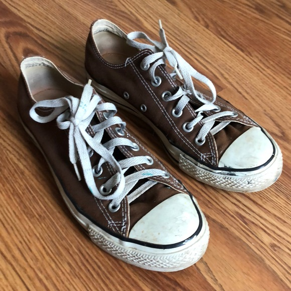 Identidad Mareo Desarrollar  Converse Shoes | Vintage Brown Converse Allstar Chuck Taylors | Poshmark